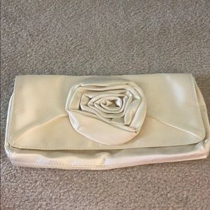 J. Crew ivory rose magnetic clutch